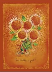 Fleurs soleil à vélo