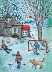 Hockey dans la cour